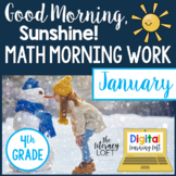 Math Morning Work 4th Grade {January}