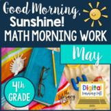 Math Morning Work 4th Grade {May}