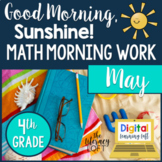 Math Morning Work 4th Grade {May}