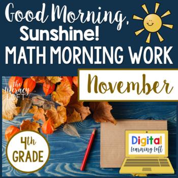 Morning Work 4th Grade {November}