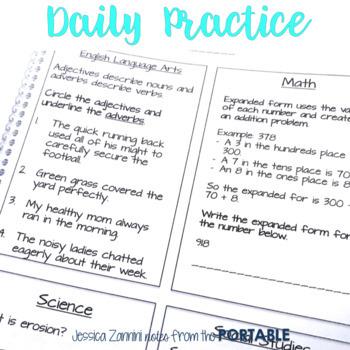 Morning Work - 4th Grade Quarter 4 (ELA, Math, Science, and Social Studies)