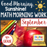 Math Morning Work 4th Grade {September}