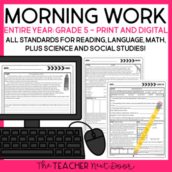 Morning Work 5th Grade | Homework 5th Grade