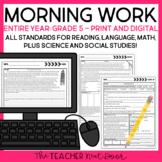 Morning Work 5th Grade Print and Digital for Google Slides