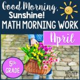 Math Morning Work 5th Grade {April}