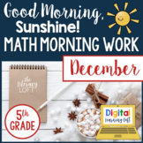 Math Morning Work 5th Grade {December}