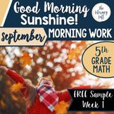 Math Morning Work 5th Grade {FREE}