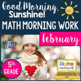 Math Morning Work 5th Grade {February}