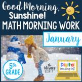 Math Morning Work 5th Grade {January}