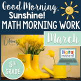 Math Morning Work 5th Grade {March}