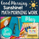 Math Morning Work 5th Grade {May}