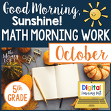 Math Morning Work 5th Grade {October}