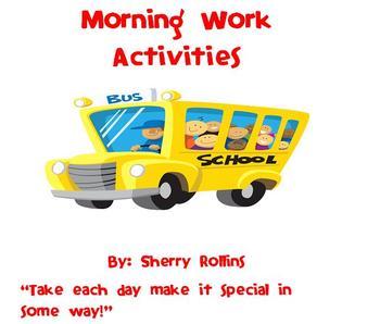 Morning Work Activities