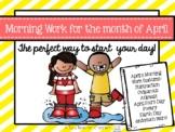Kindergarten Morning Work April