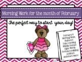 Kindergarten Morning Work February