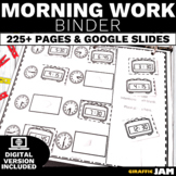 Morning Work Adapted Binder for Special Education Differentiated