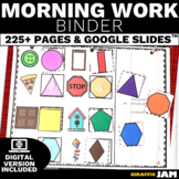 Morning Work Binder for Special Education Differentiated