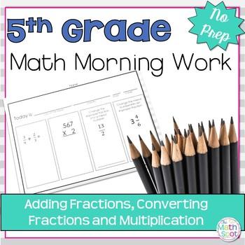 5th Grade Fractions Morning Work