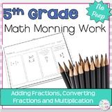 5th Grade Fractions Morning Work
