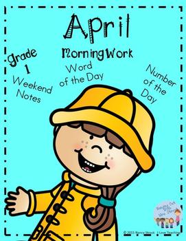 April Morning Work for Grade 1