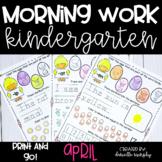 April NO PREP Kindergarten Morning Work