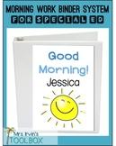 Morning Work Binder:Basic Skills, Autism, Special Ed, EDITABL