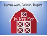 Morning Work / Bell Work Template