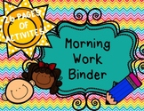 Morning Work Binder