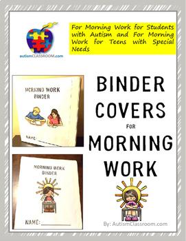 Morning Work Binder Covers for Morning Work