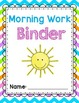 Kindergarten Morning Work Binder {D'Nealian Version}