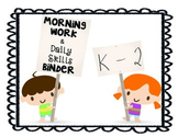 Morning Work Binder K-2
