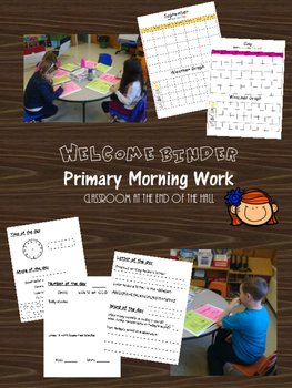Morning Work Binder - Primary - A MUST HAVE!