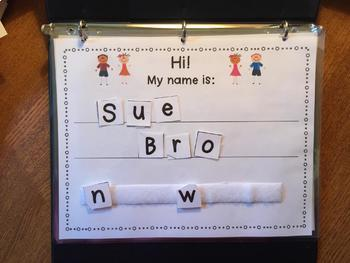 Morning Work Binder for Special Education...Personal Information/Calendar Skills