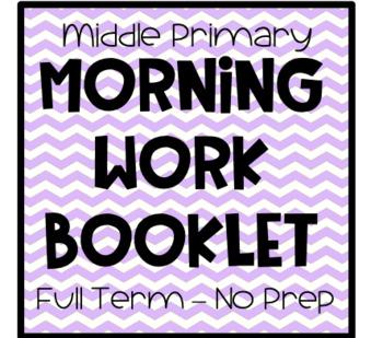 Morning Work Booklet - NO PREP - Term 4