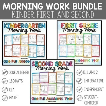 K-2 Morning Work Bundle