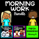 Morning Work Bundle January February March