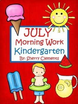 Morning Work Bundle (July-December) Kindergarten