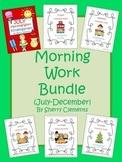 Morning Work Bundle (July-December) Kindergarten