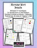 Morning Work Bundle - Kinder/1st Skills Worksheets