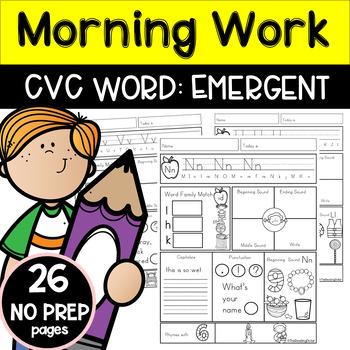 Morning Work: CVC Words Emergent Level