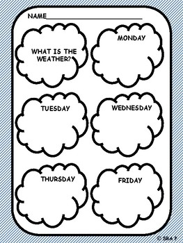 Morning Work/ Center Time: What's the Weather?