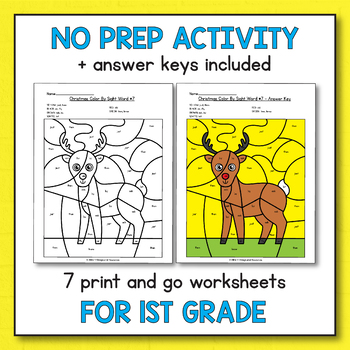 Morning Work Christmas - Activities for 1st Grade