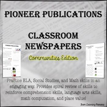Morning Work - Classroom Newspapers: Communities Edition