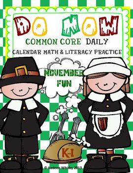 Morning Work Common Core Do Now November