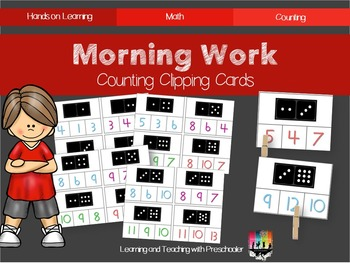 Morning Work Counting Clipping Cards
