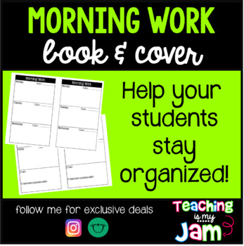 Morning Work Cover and Book