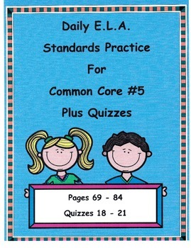 Morning Work DOL For 3rd Grade Common Core ELA Free Pages 69-72 Quiz18