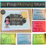 Morning Work Daily Learning Binder