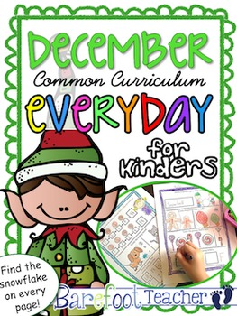 Christmas or December Kindergarten Morning Work