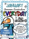 FREE Kindergarten Morning Work {January}